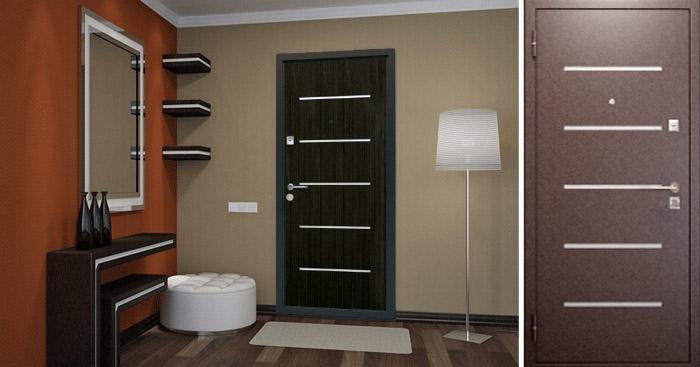 Дверь входная Бульдорс 14  LASER (Венге) - 1